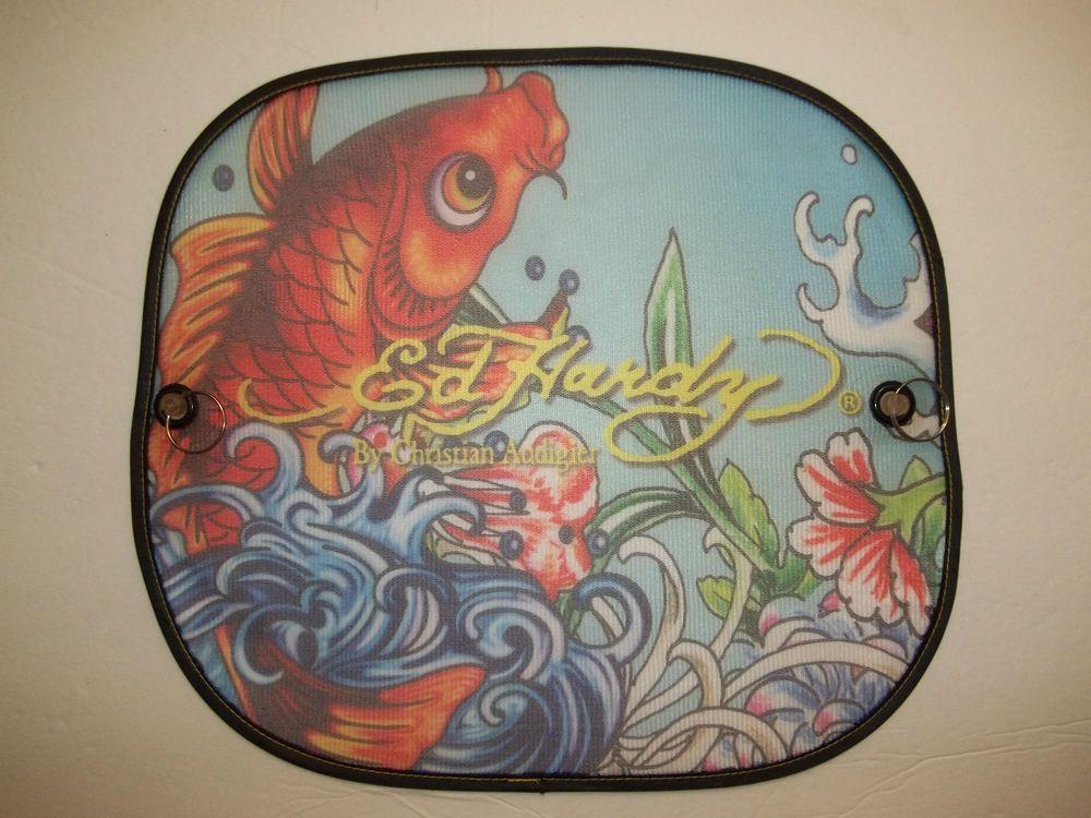 Ed Hardy Koi Goldfish Collapsible Window Suncutter Goldfish Koi Ed Hardy