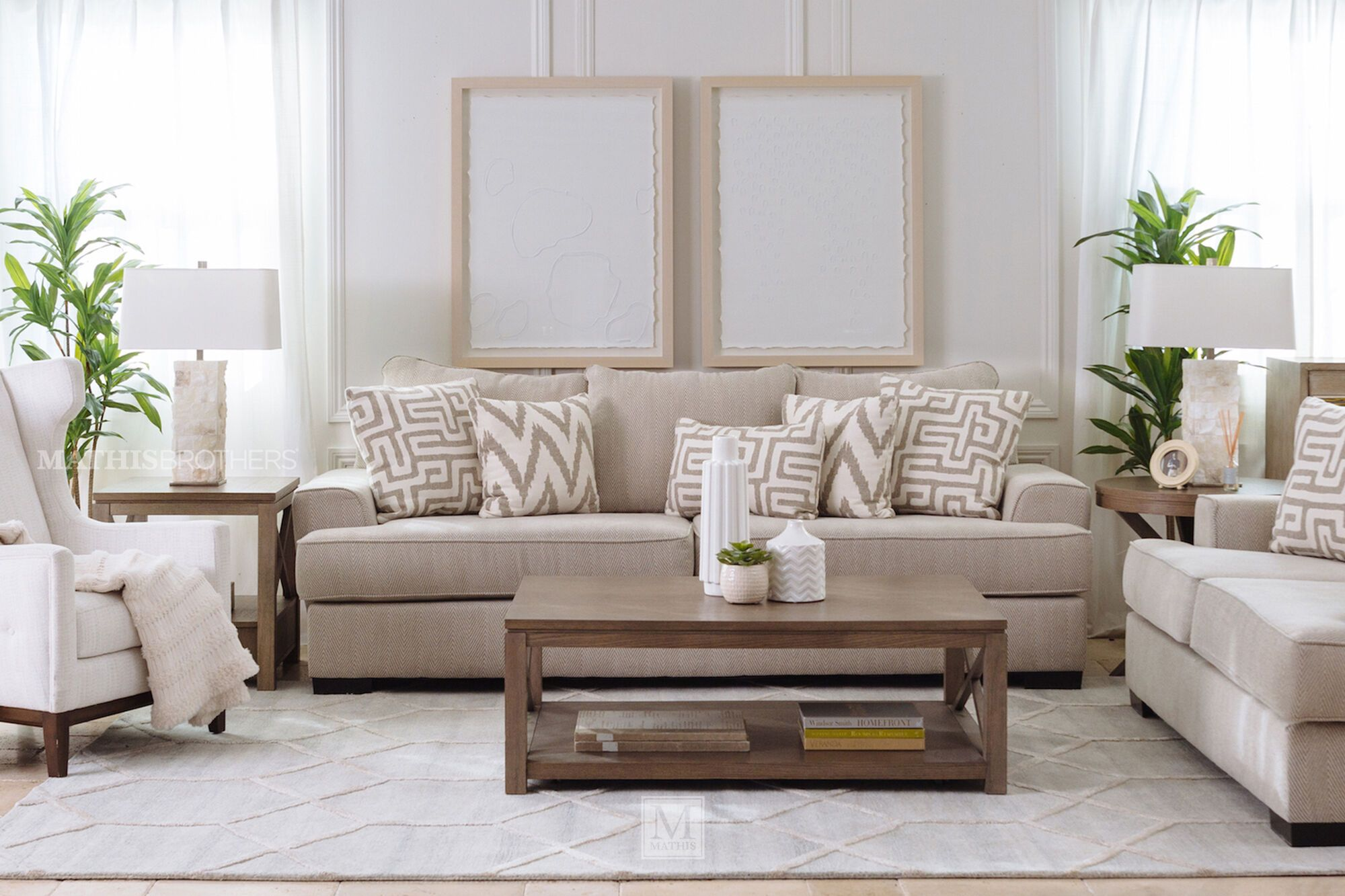 Contemporary Textured 101 Sofa In Greige Mathis Brot