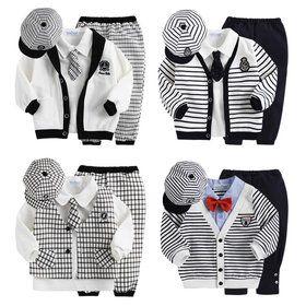 Gmarket - Baby boys dress suit / cardigan + shirts + pants + hat ... 3068b1fe2312
