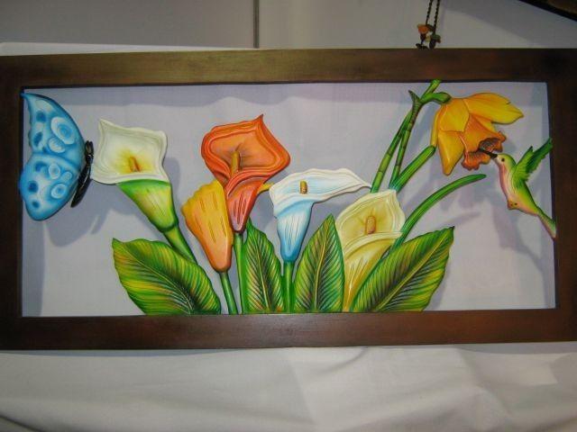cuadros tallados a mano en madera en