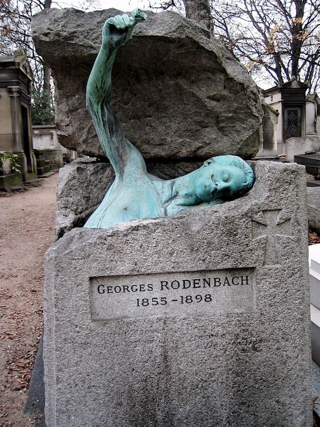Tomb of Georges Rodenbach Belgian Symbolist poet and novelist Père Lachaise Cemetery Paris : pere chaise - Sectionals, Sofas & Couches