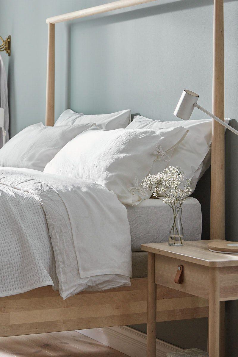 Naturmaterial Im Schlafzimmer Zimmer Bettgestell Schlafzimmer