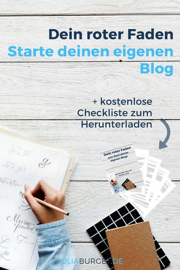 Der rote Faden zum Start deines eigenen Blogs (inkl