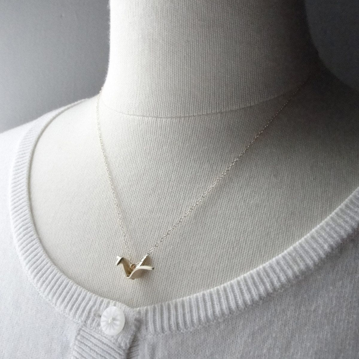Olive Yew! | Origami Crane Necklace | needful things ... - photo#41