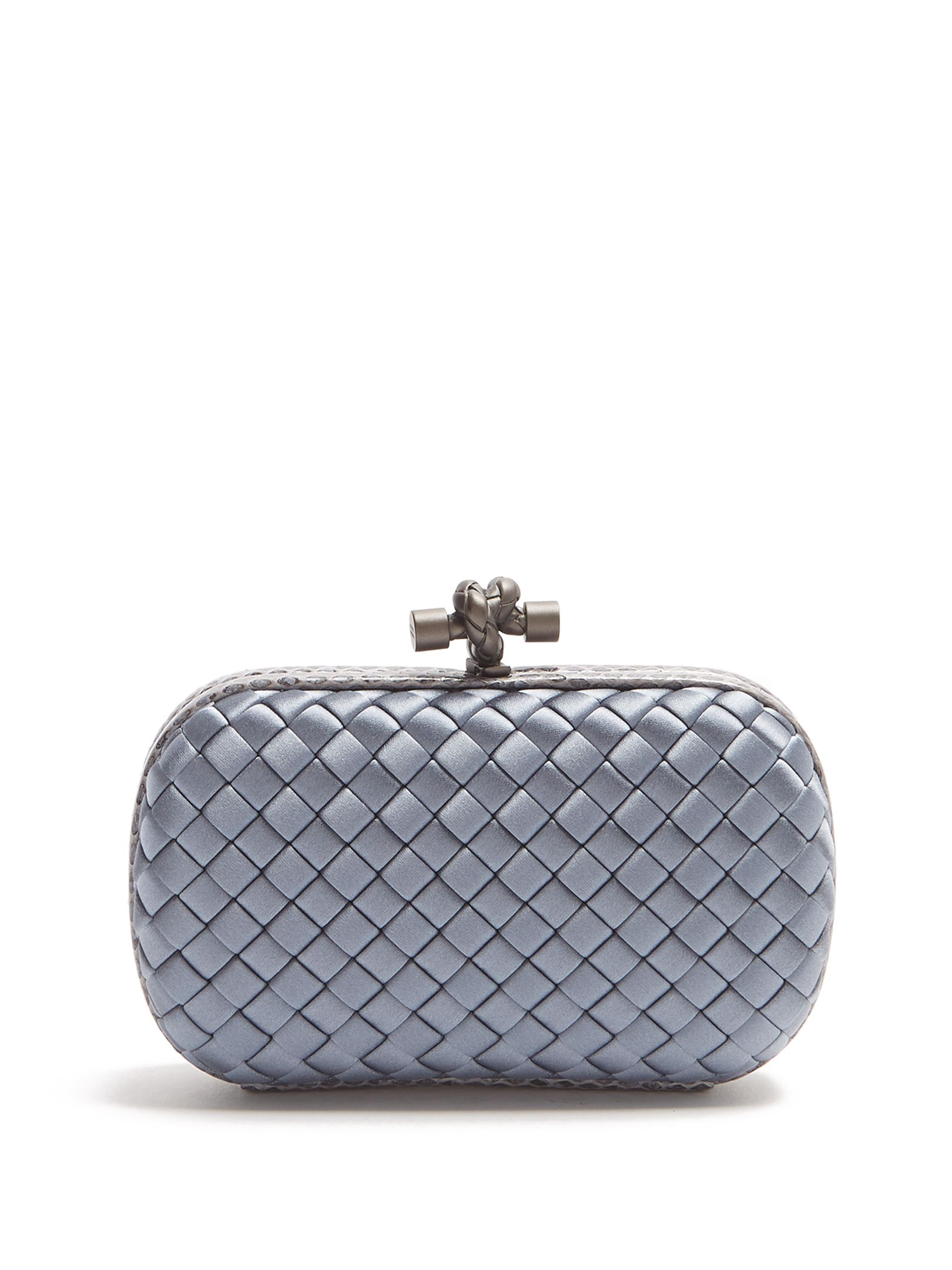 fe7a49165f Click here to buy Bottega Veneta Knot satin and water-snake clutch at  MATCHESFASHION.COM