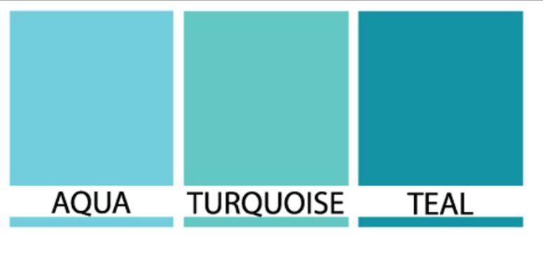 Aqua Vs Turquoise Vs Teal Aqua Color Schemes Bedroom Paint Colors Bedroom Colors