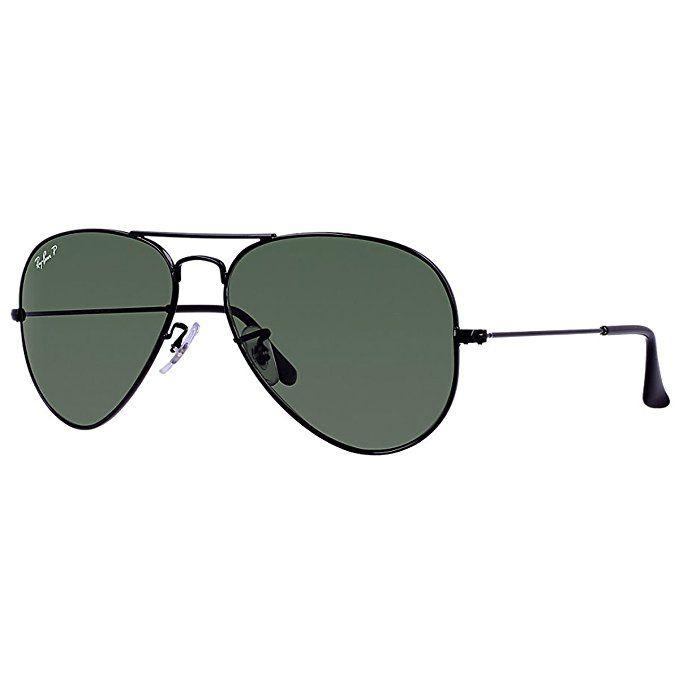 Ray-Ban 3025 Aviator Large Metal Non-Mirrored Polarized Sunglasses ... b28efa5b42