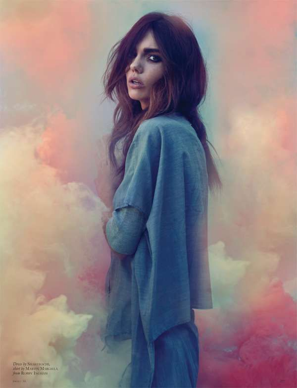 Colorful Cloud Backdrops -  The Black Magazine Issue 16 Editorial Stars an Ethereal Emily Jean Bester