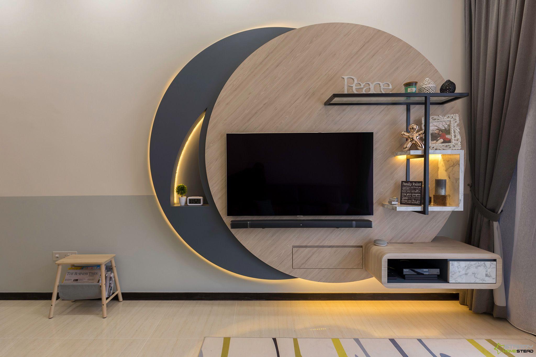 Tv drawing room design  Interior design dining room, Tv room