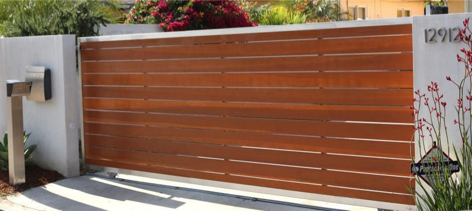 Wooden Driveway Gates Landscape Contemporary With Driveway