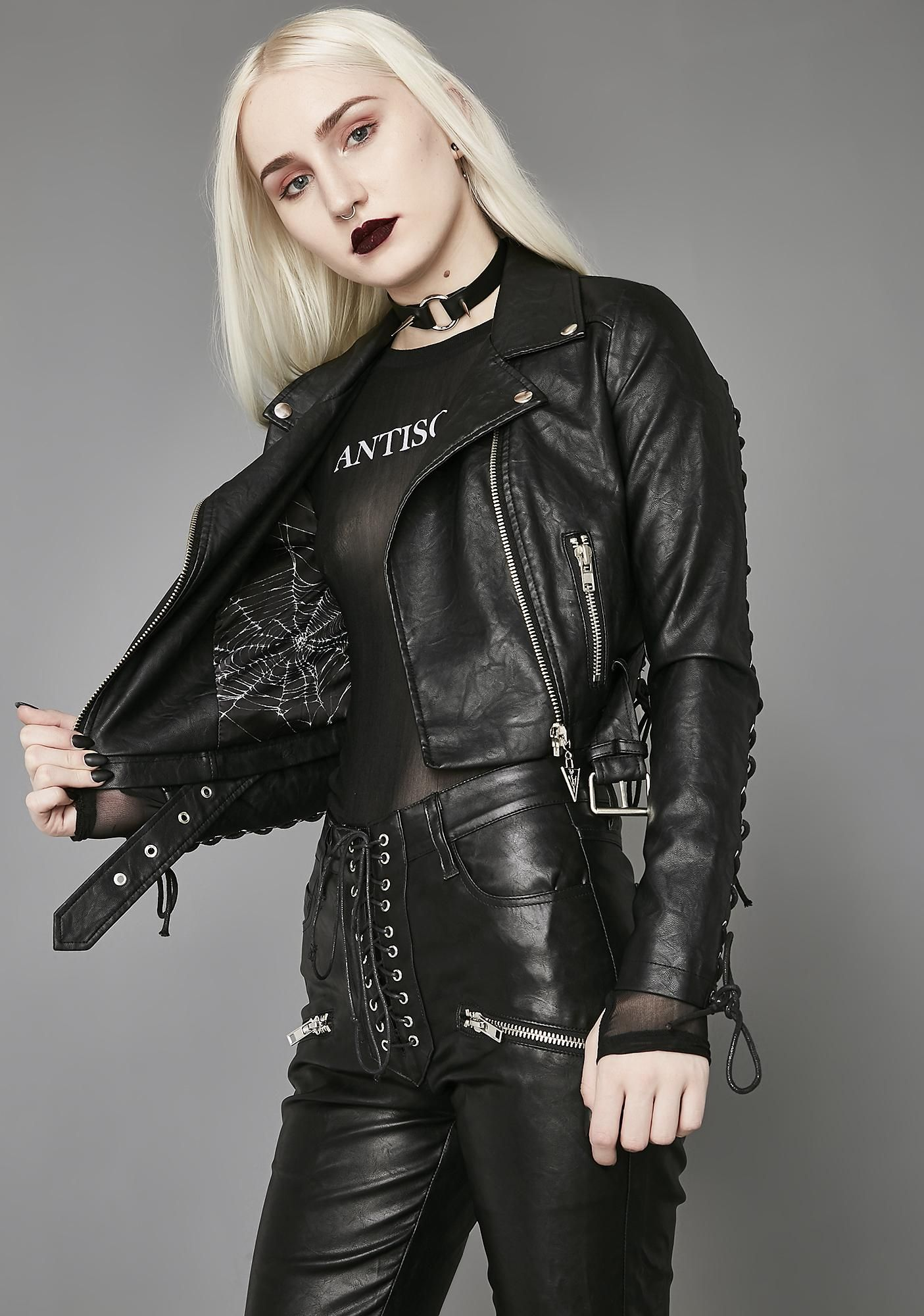 08aea965dfdc Free, fast shipping on Widow Love In Vein Moto Jacket at Dolls Kill, an  online boutique for Widow and goth fashion. Shop Widow, new goth fashion,  ...
