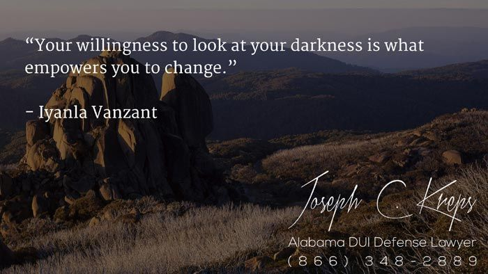 """#DUI #Attorney #Weaver #Alabama - We are here now to help you with your Weaver DUI #charges. Call Today.    """"Your willingness to look at your darkness is what empowers you to change."""" - Iyanla Vanzant  http://buff.ly/2aXYnwl - #KLF"""