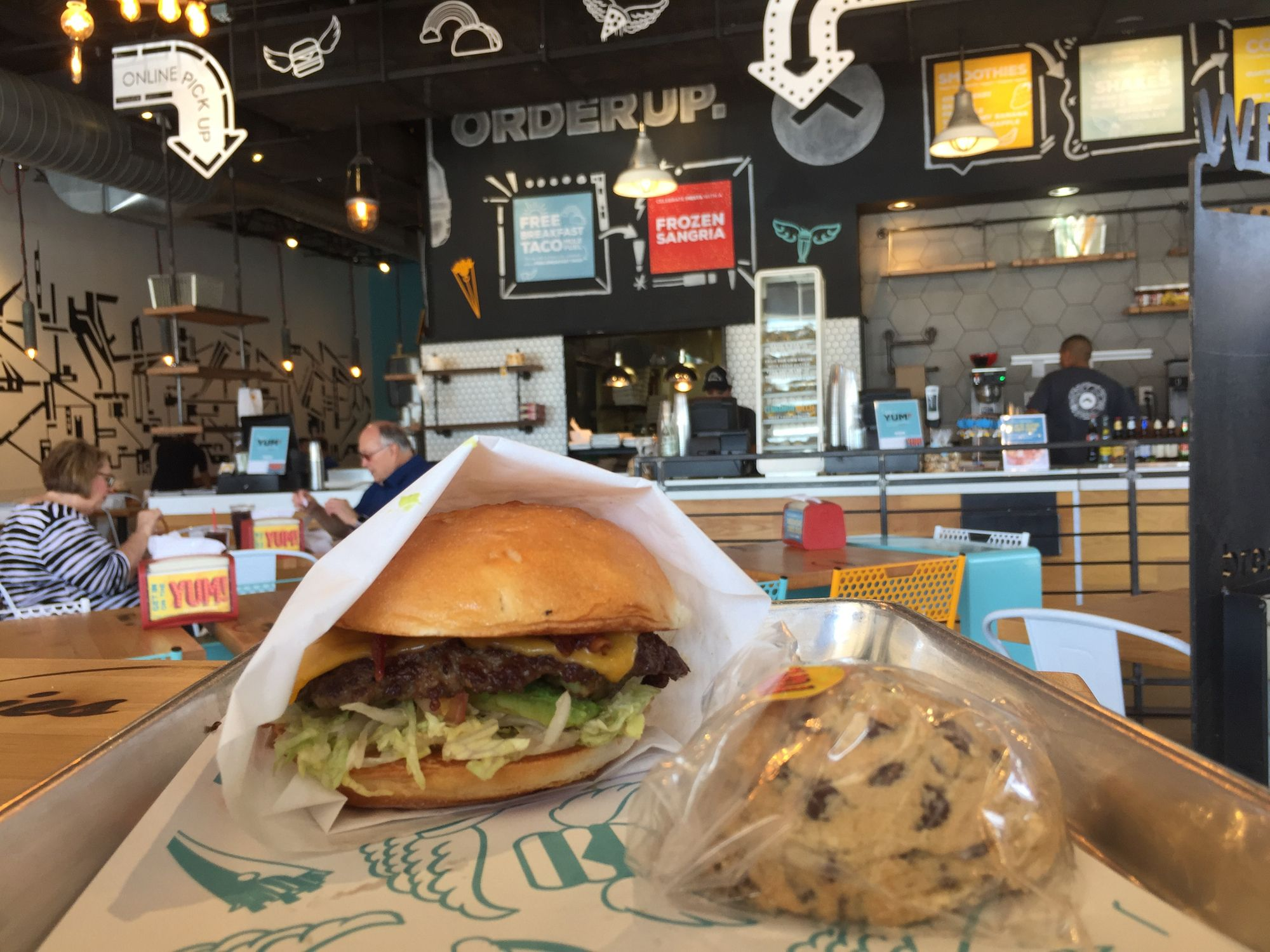 Orderup Great Fg Burgers And Amazing Gf Chocolate Chip Cookies This Was In San Antonio Tx