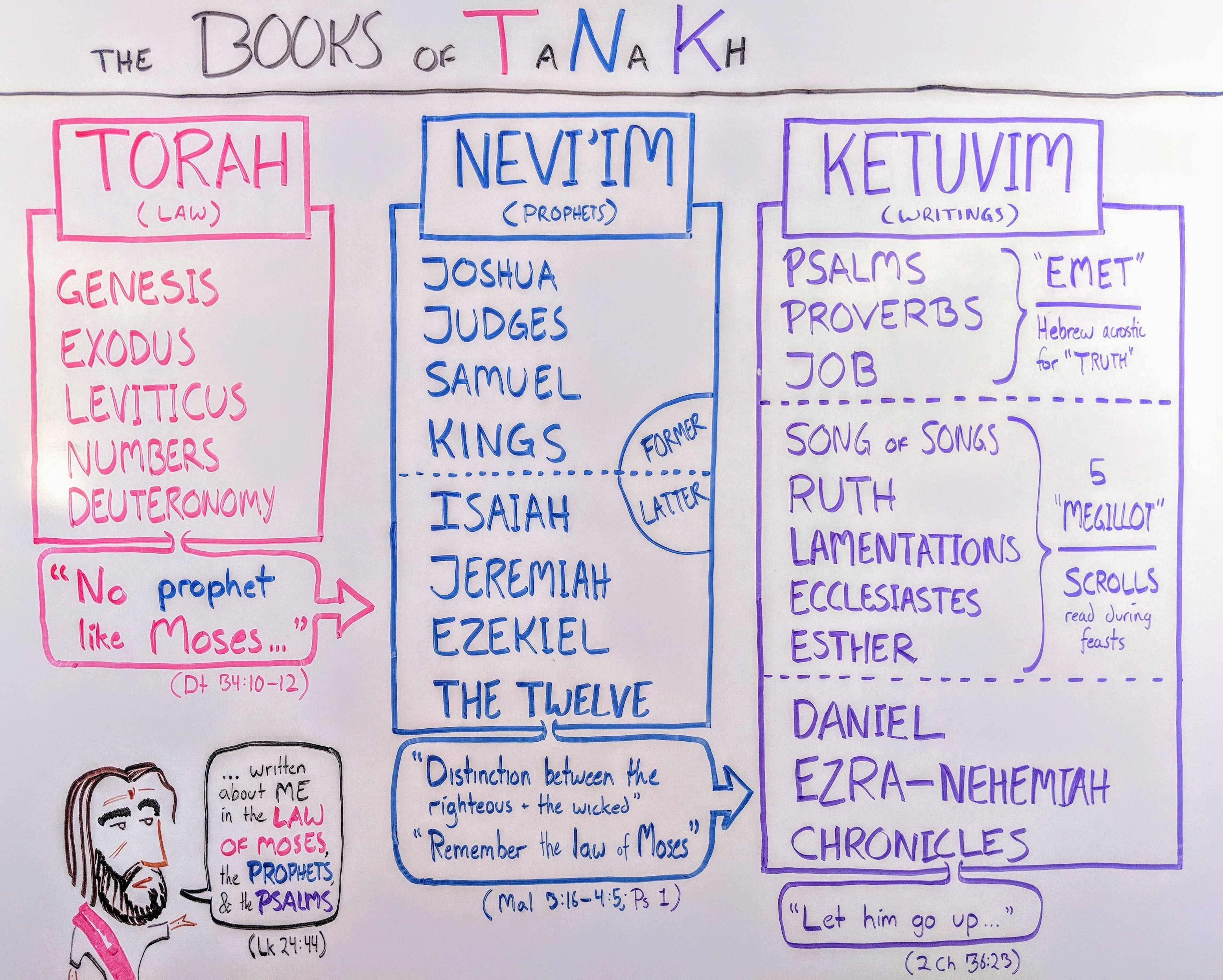 TaNaKh The 24 Books of the Hebrew Bible [Whiteboard Bible