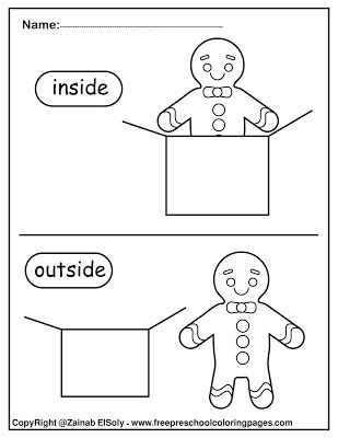 gingerbread man opposites for kids free preschool coloring
