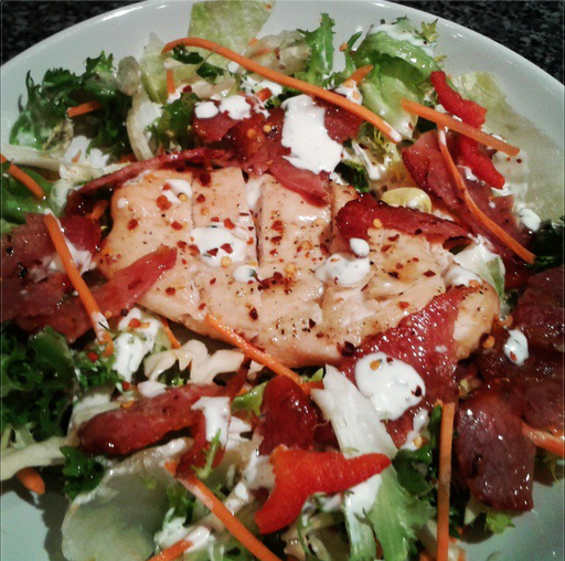 Chicken & Bacon Salad For this recipe and more, visit the CookPanda website. :) http://natalieholkham.wix.com/cookpanda