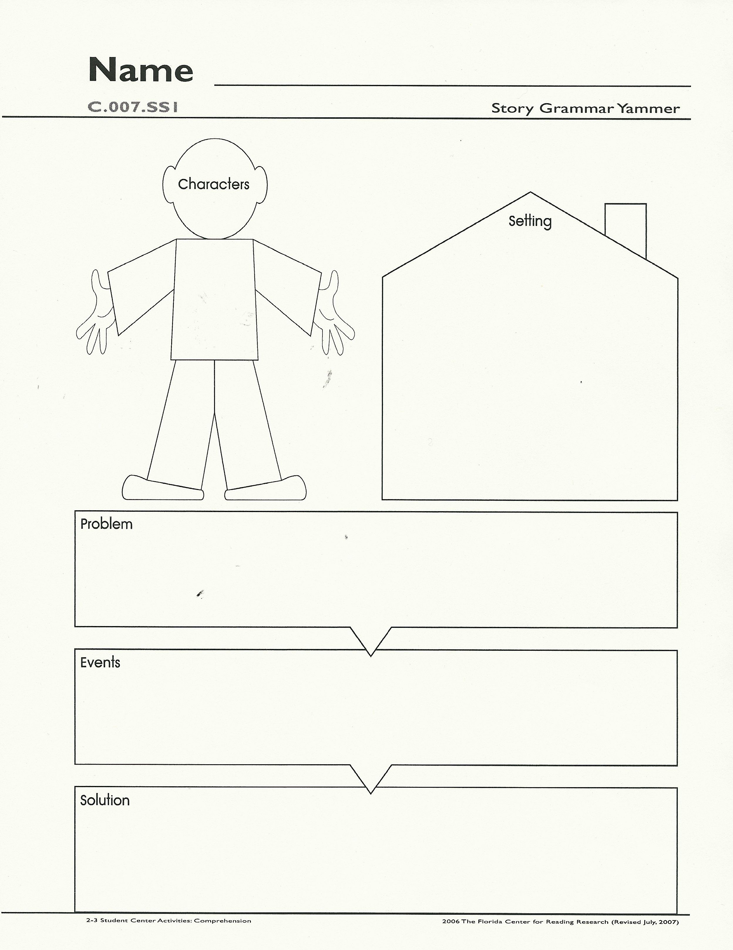 Main Idea Web Kindergarten Graphic Organizers
