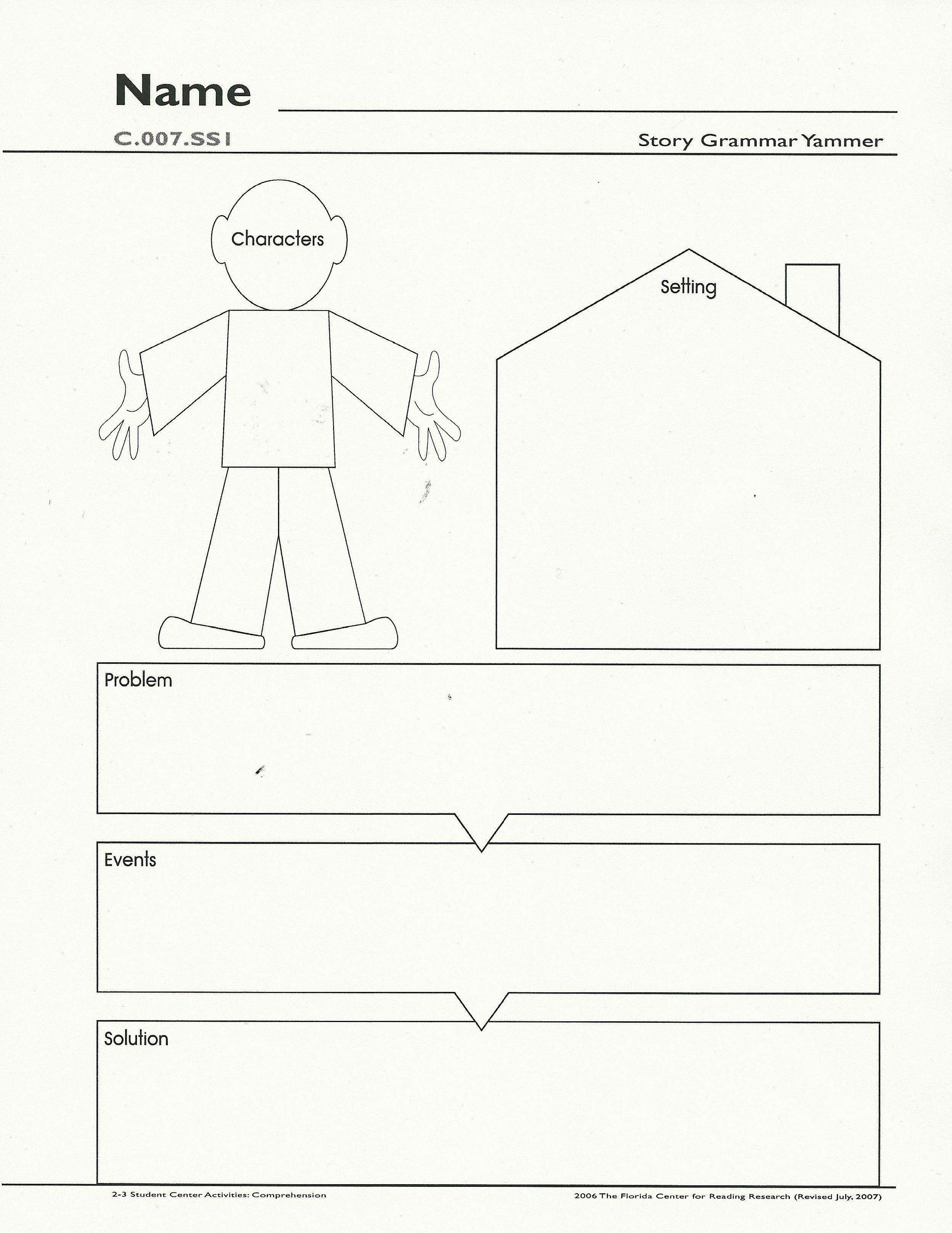 Main Idea Web Kindergarten Graphic Organizers