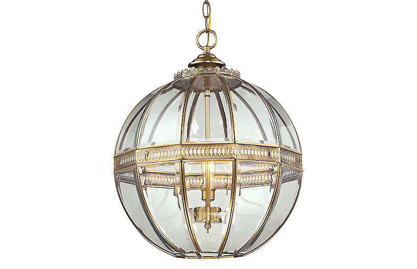 Thea 3 Light Globe Pendant Brass In 2020 Globe Pendant Vintage Pendant Lighting Globe Pendant Light