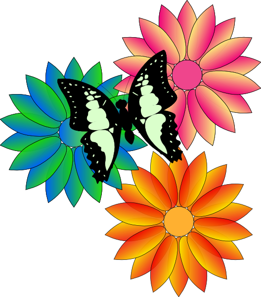 Animated Flowers And Butterflies Butterfly And Flowers