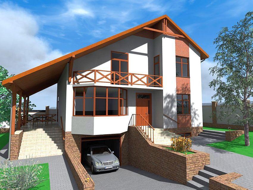Case cu mansarda si garaj subteran loft houses with for Case loft