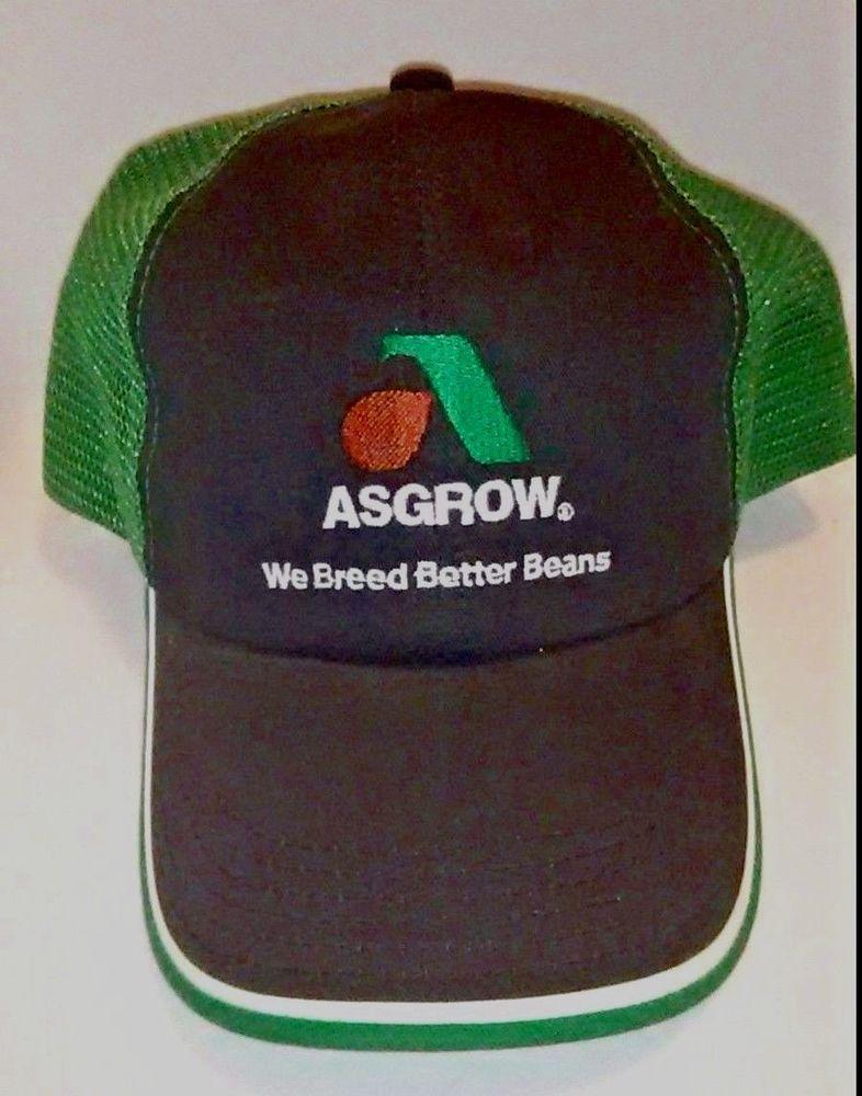 VTG Asgrow Seeds Mesh Snapback Trucker Hat Pioneer Farming Agriculture Beans   Trucker f19592da62ea