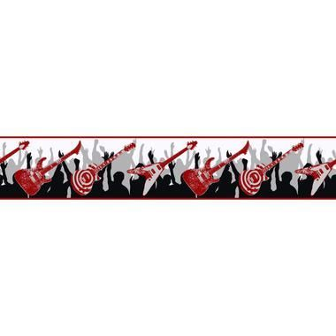 Zb3120b Boys Will Be Boys Guitar Border Wall Coverings Wallpaper Border Kids York Wallpaper