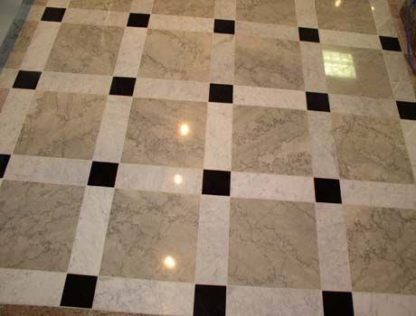 Natural stone floor: Marble and limestone are widely ...