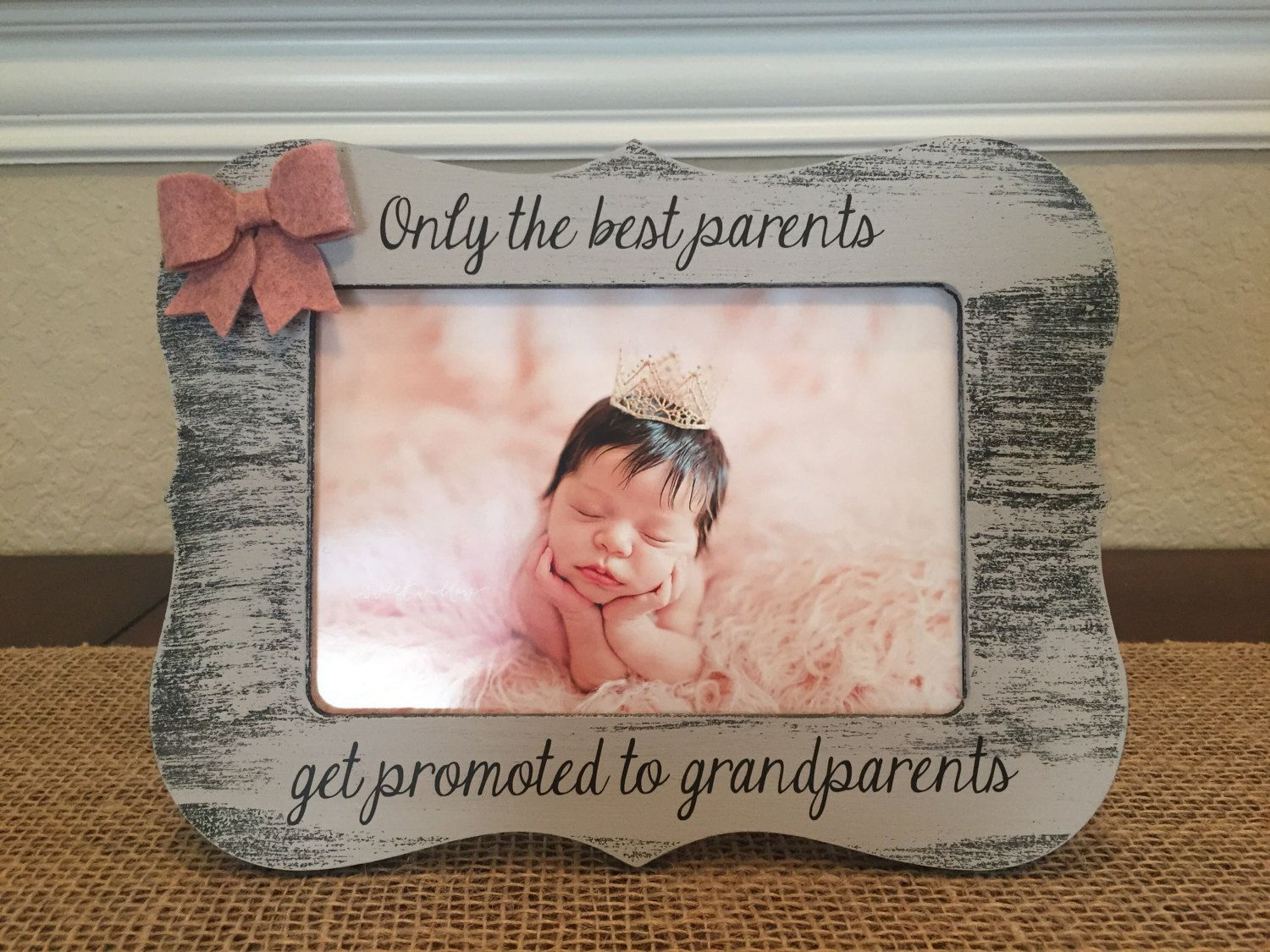 Grandparents Gift Best Parents Get Promoted To Grandparents Picture ...