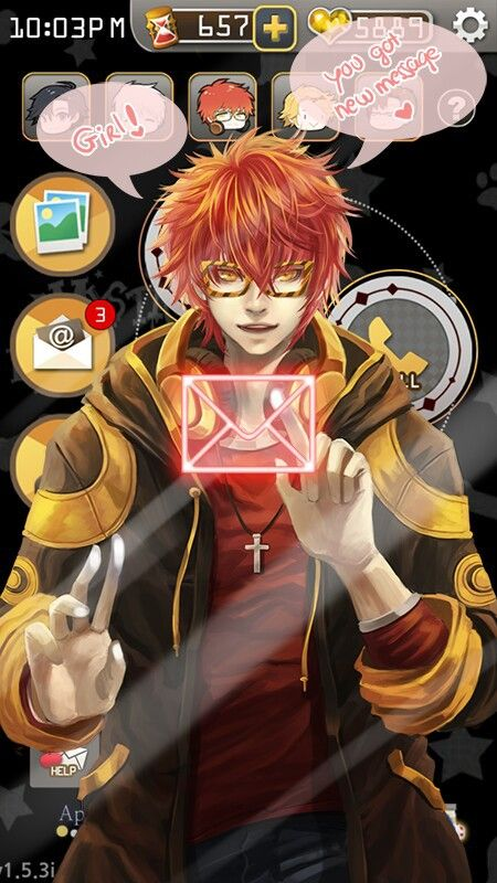 Immagine Di 707 Mystic Messenger And Luciel Mystic Messenger Seven Mystic Messenger Mystic Messenger Memes