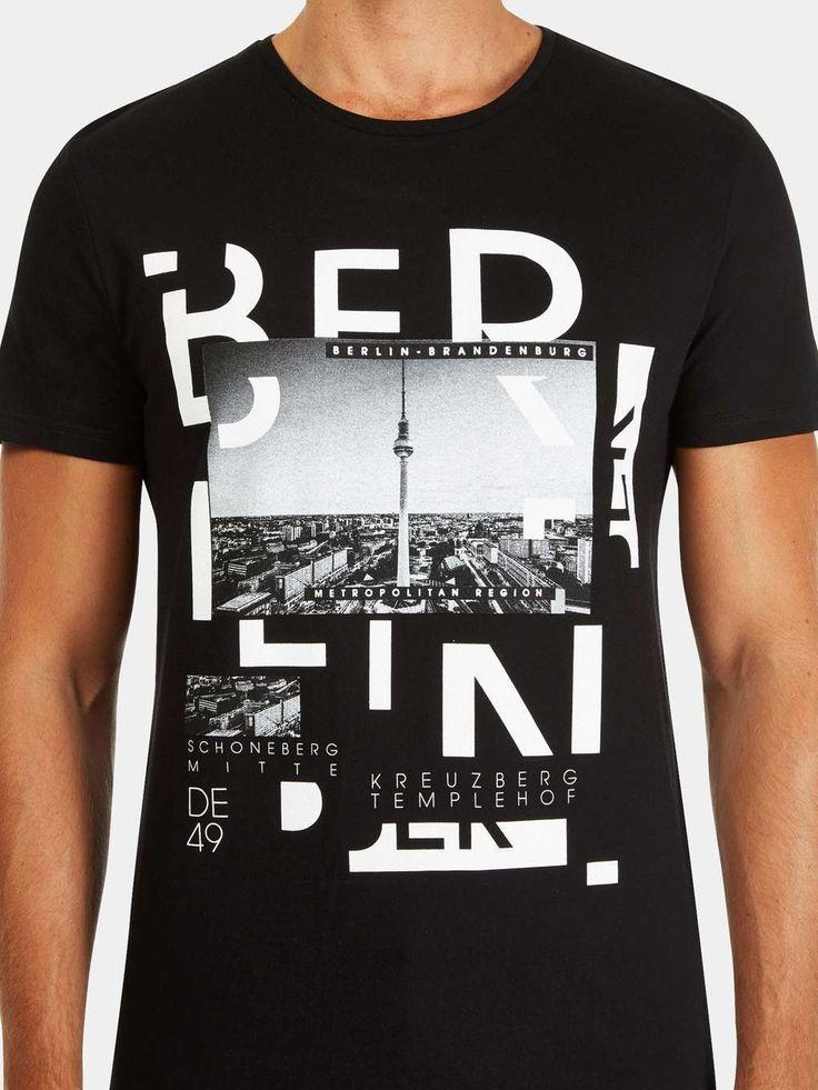 Black Berlin Print T-Shirt T-Shirt Custom Trends