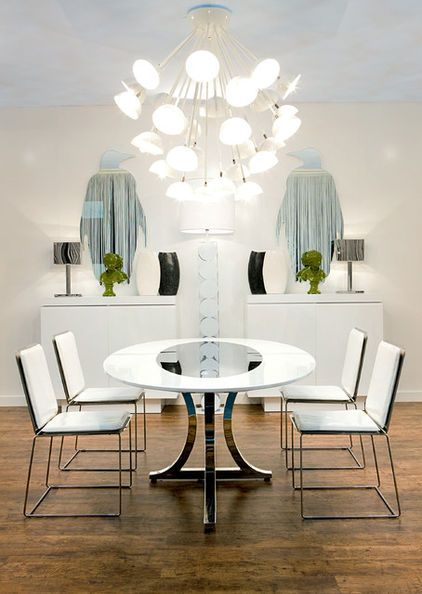 Coolly Modern Formal Dining Room Sets To Consider Getting: A Very Modern Take On Art Deco Principles: Clean, Sharp