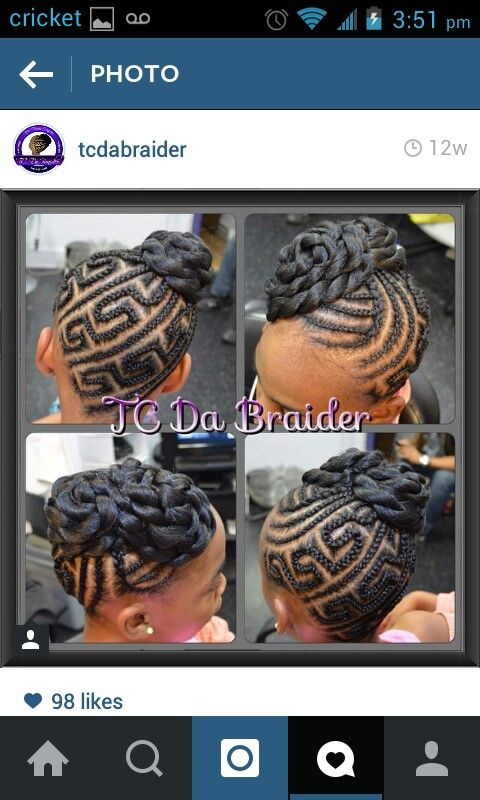 Braids In Different Styles Tresse Enfant Tresses