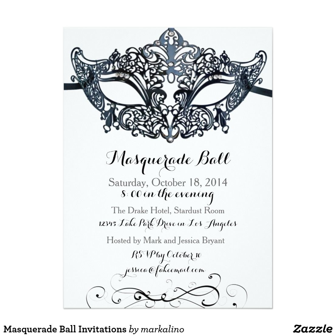 Masquerade Ball Invitations   MASQUERADE SWEET SIXTEEN Invitations ...