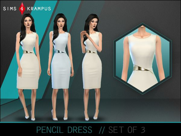 The Sims Resource: Colored Pencil Dresses by SIms4Krampus • Sims 4