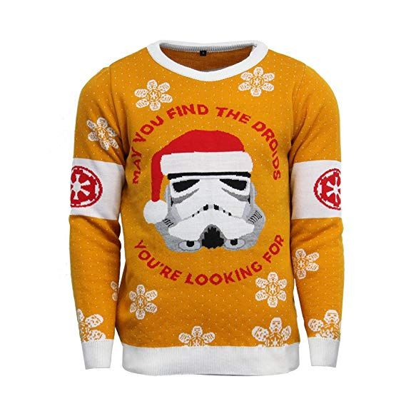 Official Star Wars Stormtrooper Christmas Jumperugly Sweater Uk