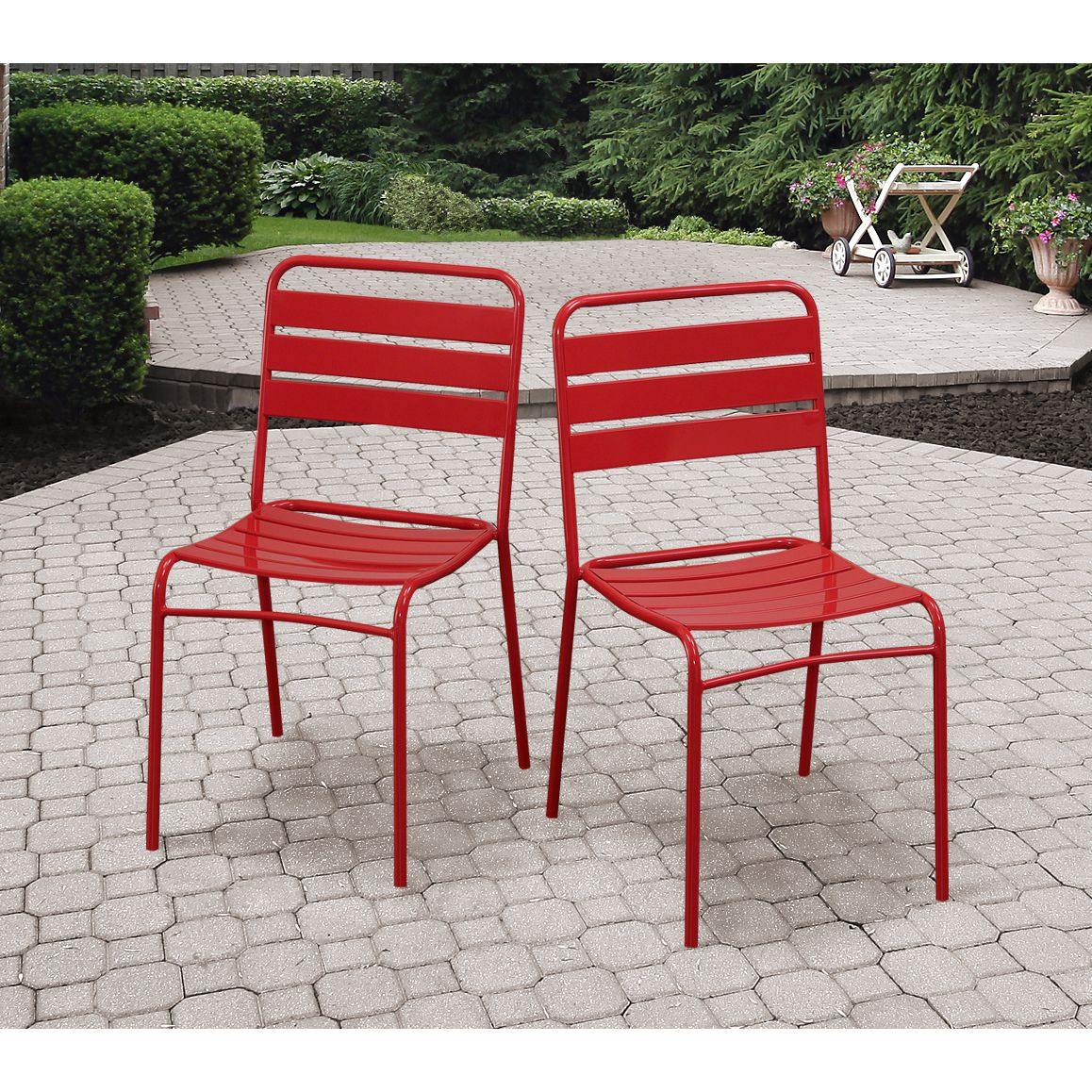 stackable chairs for less office lounge chair and ottoman give your outdoor area a fresh appeal with these this set of four
