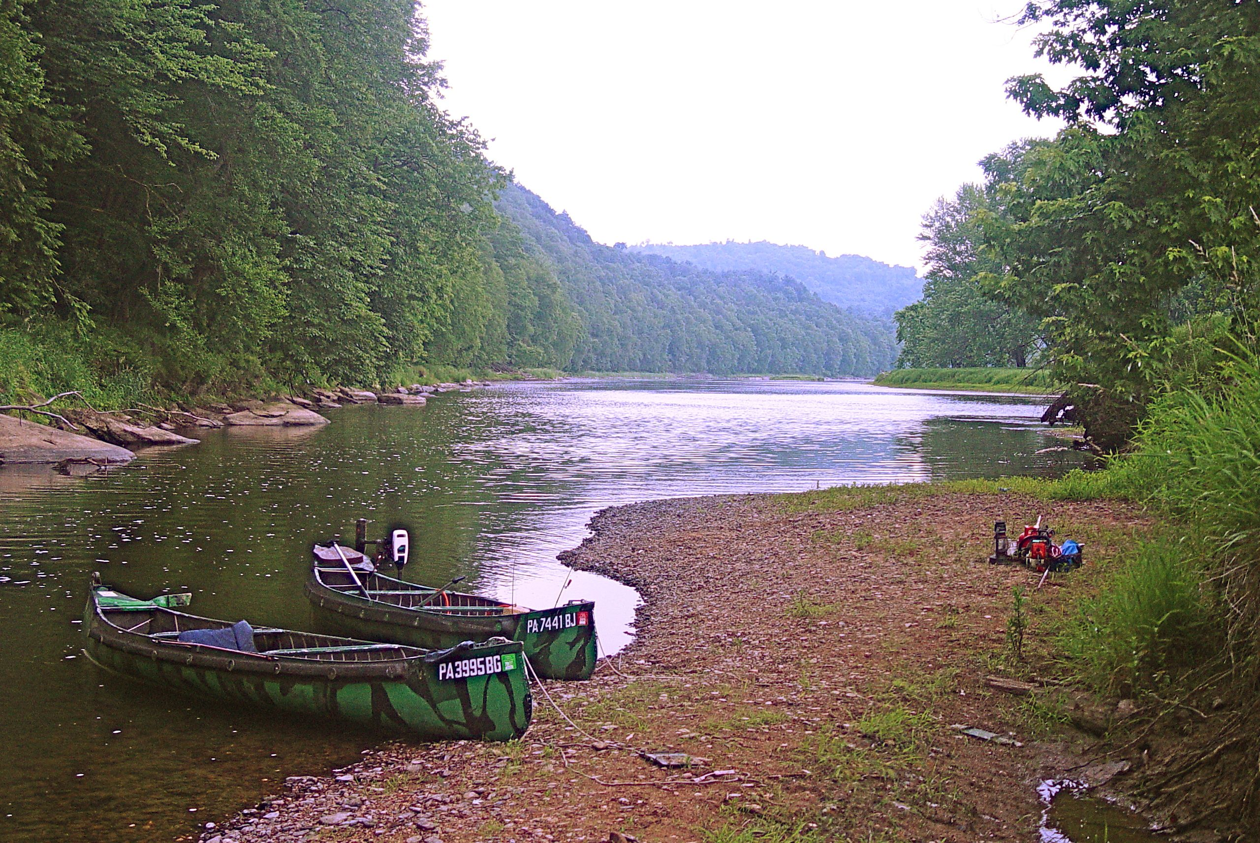 Break time on the Allegheny River in the Allegheny National
