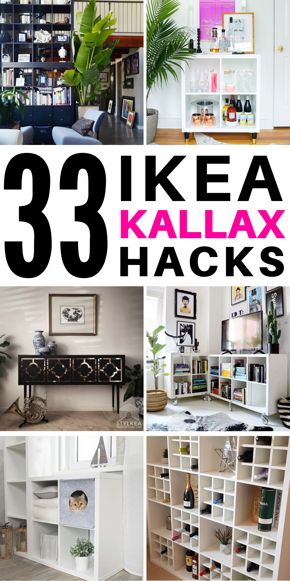 33 Stunning Ikea Kallax Hack Ideas you Need to See #drinks