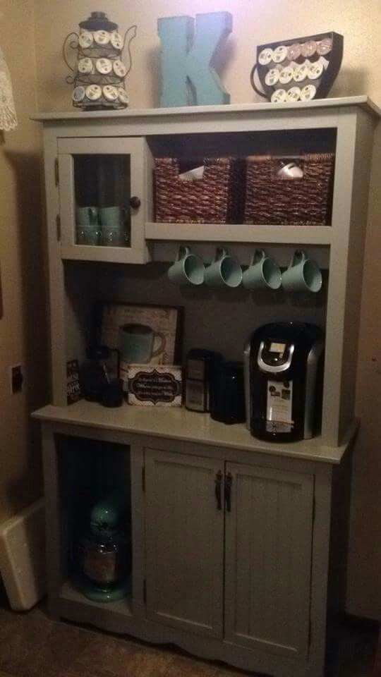 Coffee hutch by kelly knips coffee tea food and drink for Coffee station ideas for the home