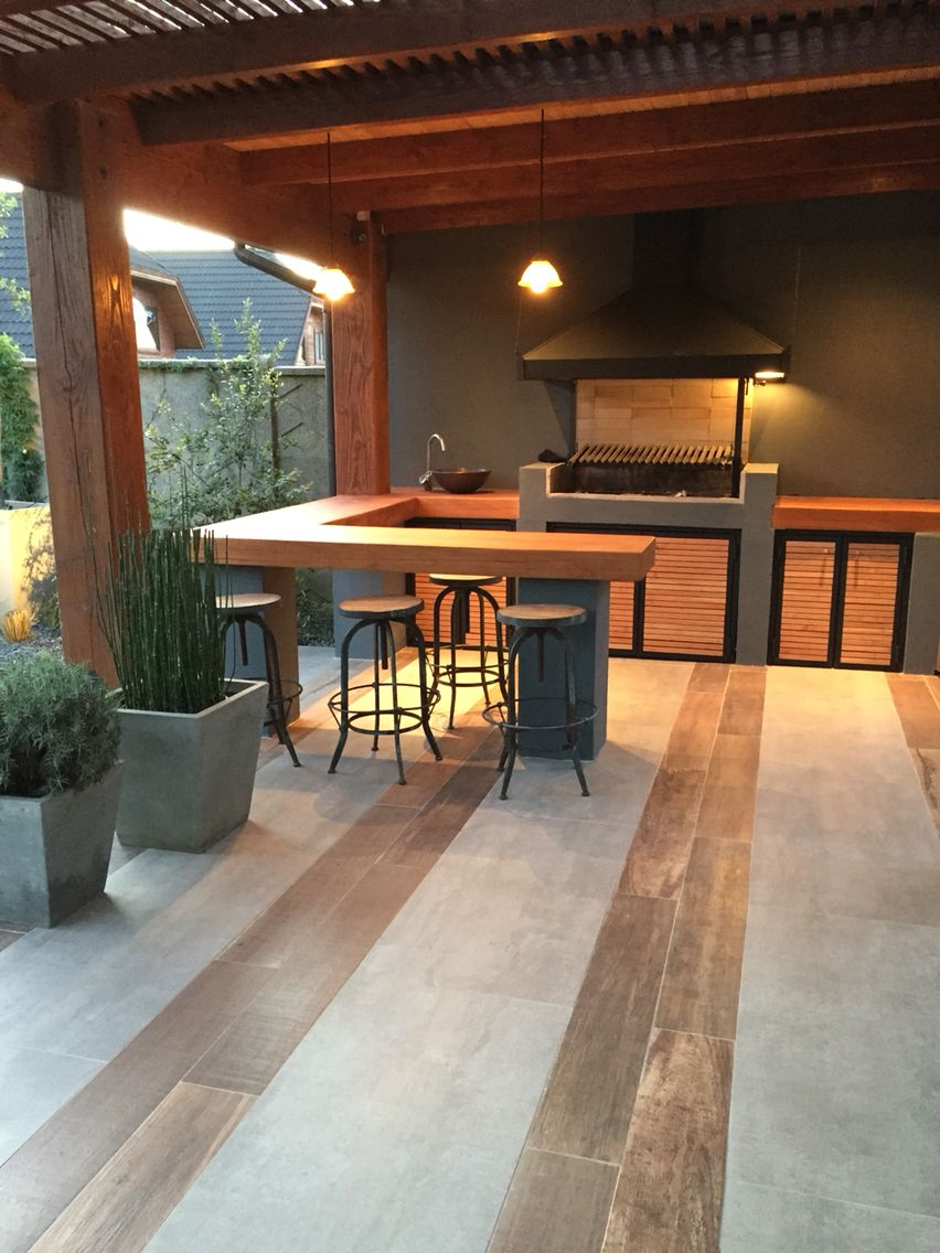 Espaço de convivência Asador Pinterest Kitchen design Patios
