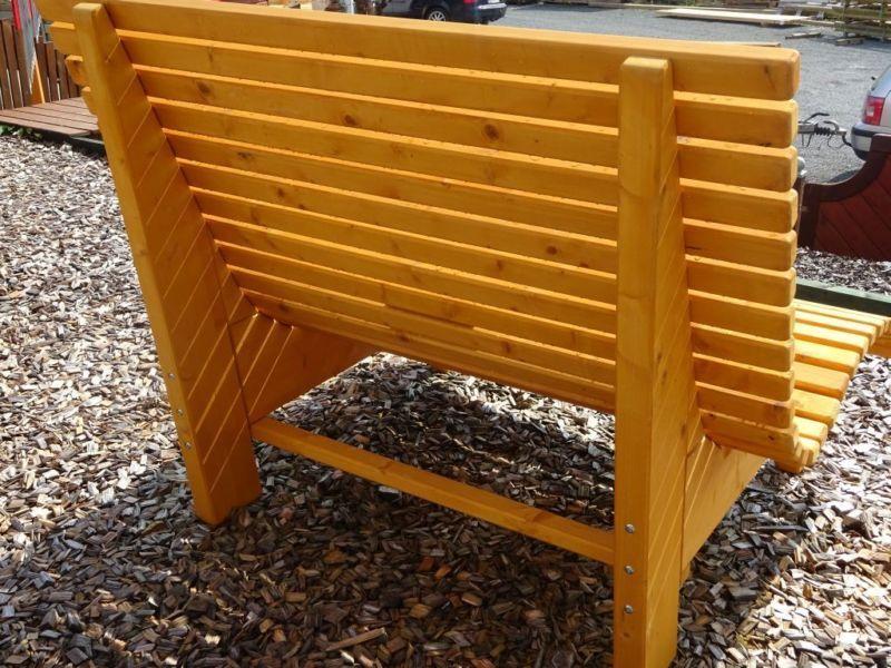 Liegestuhl, Relaxliege, Sonnenliege aus Holz für Garten