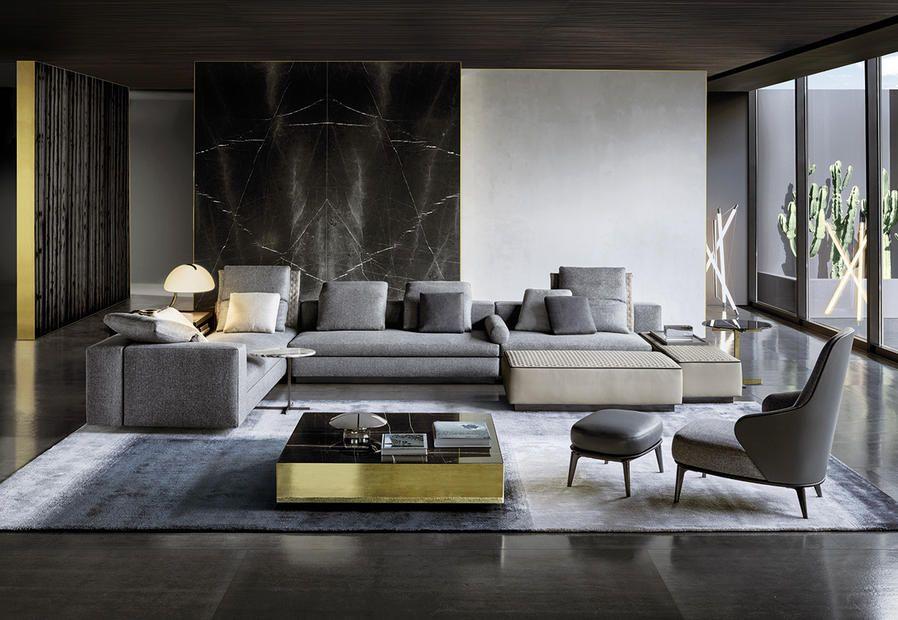 Minotti, design per la casa - i prodotti del catalogo dialogano ...