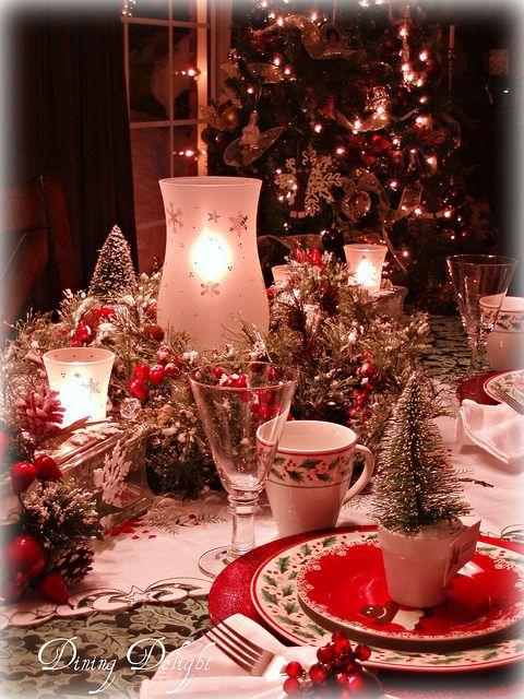 A Merry Little Christmas Tablescape Avec Images Deco Noel Decoration Noel Noel