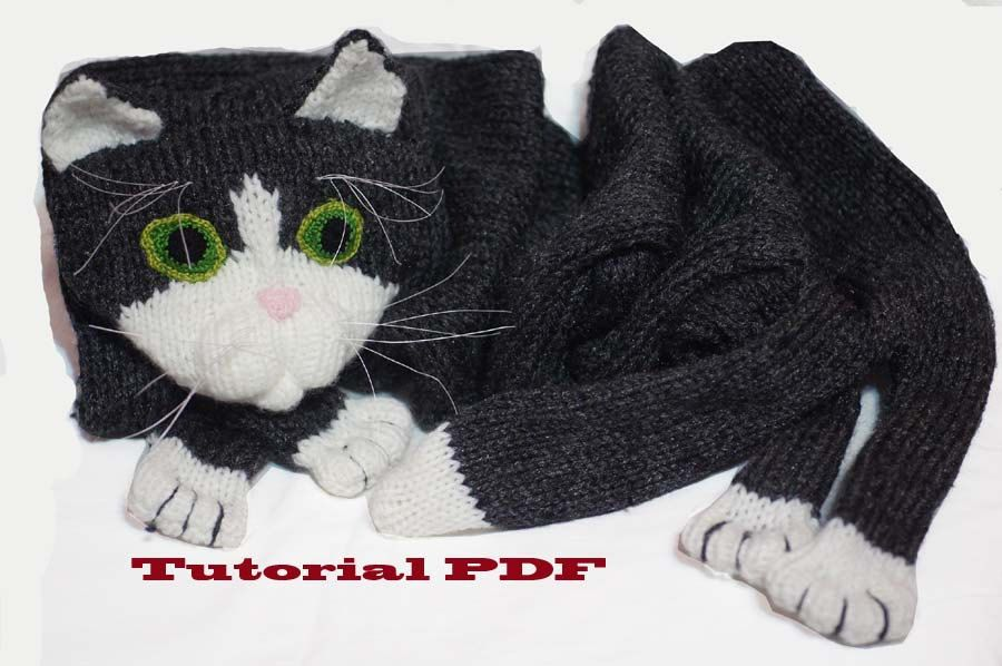 This listing is a PDF file knitting pattern for a cat scarf. You will need to knit your kitty from my tutorial. It is an easy pattern to make this cat scarf. before creating this pattern I tested and knitted cats myself you can check my work and other style cat scarfs listed in my shop Pattern written in English and I have added pictures to help with the pattern. A detail description of how to knit this pattern is in a PDF file. How to knit, shape, material , all added to the file. Choosing…