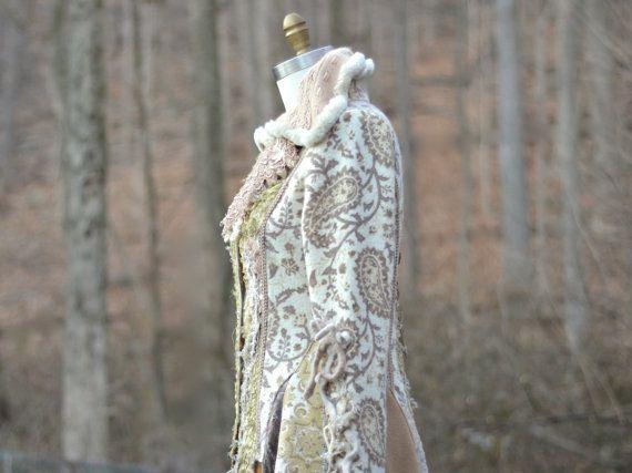 MANTEL Fantasie Boho tragbare Kunst Kleidung von amberstudios