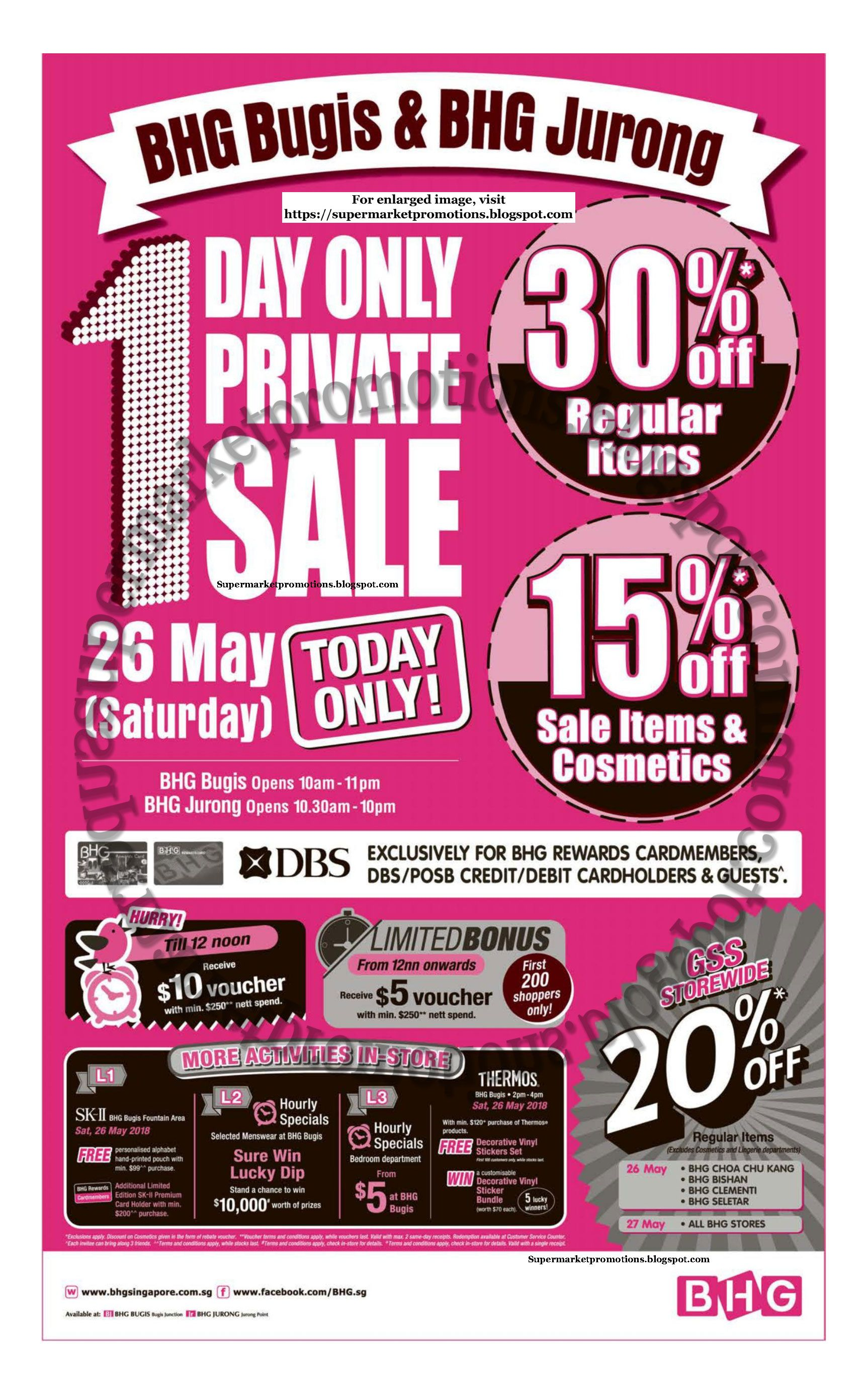 b494144bd7b59 BHG Bugis & Jurong 1 Day Private Sale thermos, sk-II Gss Great Singapore  sale