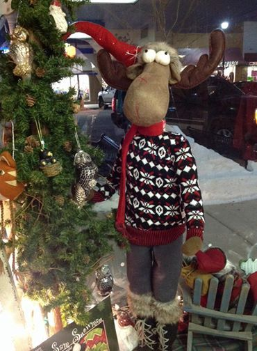 Look at this cute moose from Crazy Woman Mercantile on Gillette - moose christmas decorations