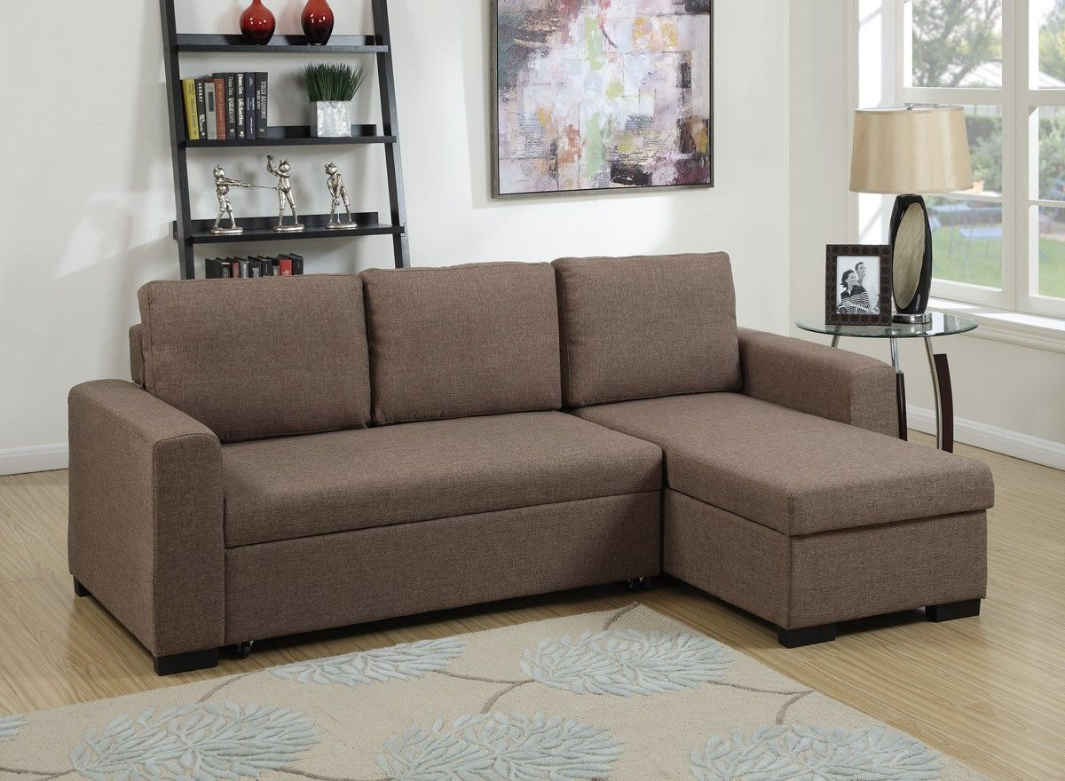 Light Coffee Linen Like Sleeper Sectional Caravana Furniture Modelos De Sofa Decoracao Sala Decoracao