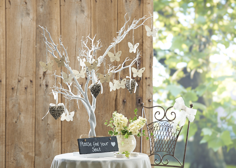Decorative White Twig Tree 104cm